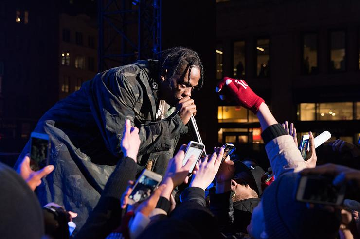 Travis Scott performss at Roc city classic: Flatiron District on February 12, 2015 in New York City.