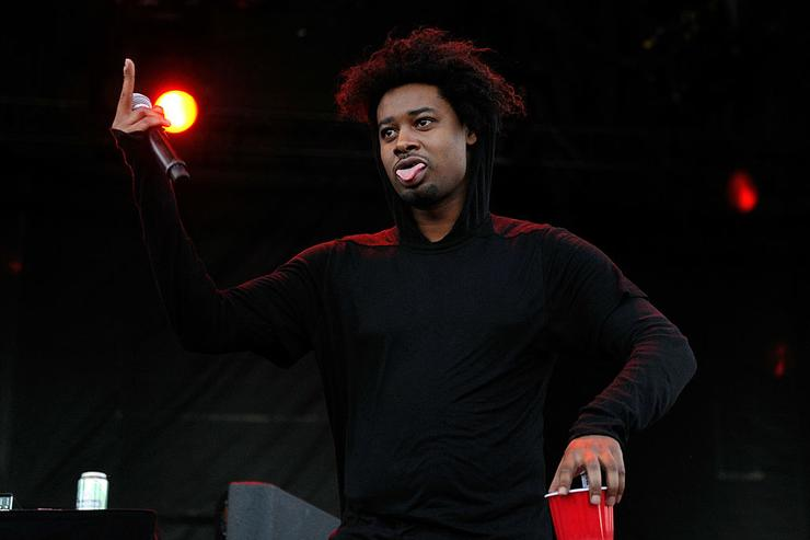 Danny Brown performs during the Life is Beautiful festival on October 27, 2013 in Las Vegas, Nevada.