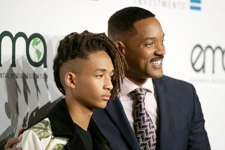 Jaden Smith (L) and Will Smith attend the Environmental Media Association 26th Annual EMA Awards Presented By Toyota, Lexus And Calvert at Warner Bros. Studios on October 22, 2016 in Burbank, California.