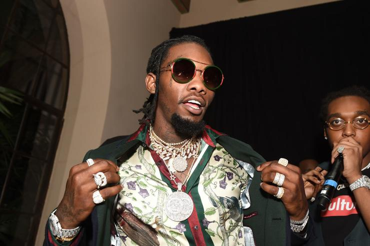Rapper Offset of Migos attends GQ and Chance The Rapper Celebrate the Grammys in Partnership with YouTube at Chateau Marmont on February 12, 2017 in Los Angeles, California.