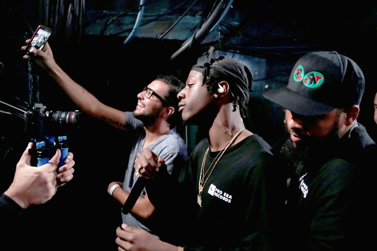 Rapper Joey Bada$$ performs onstage at MTV's 'Wonderland' LIVE Show