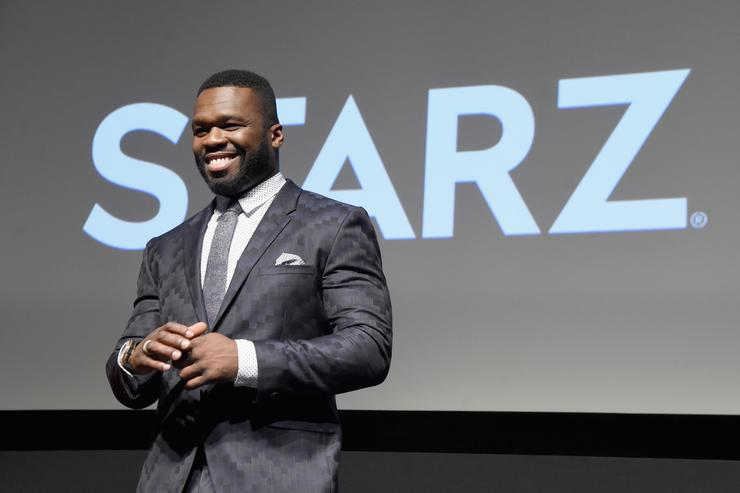 Curtis Jackson speaks onstage at STARZ 'Power'