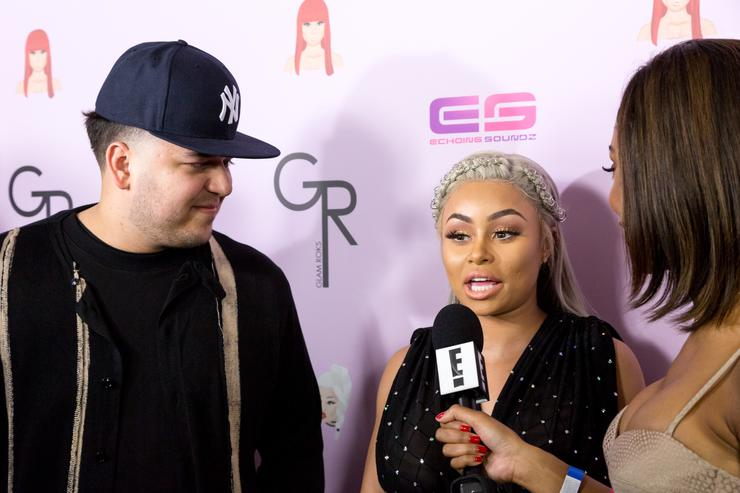 Rob Kardashian and Blac Chyna arrive at her Blac Chyna Birthday Celebration