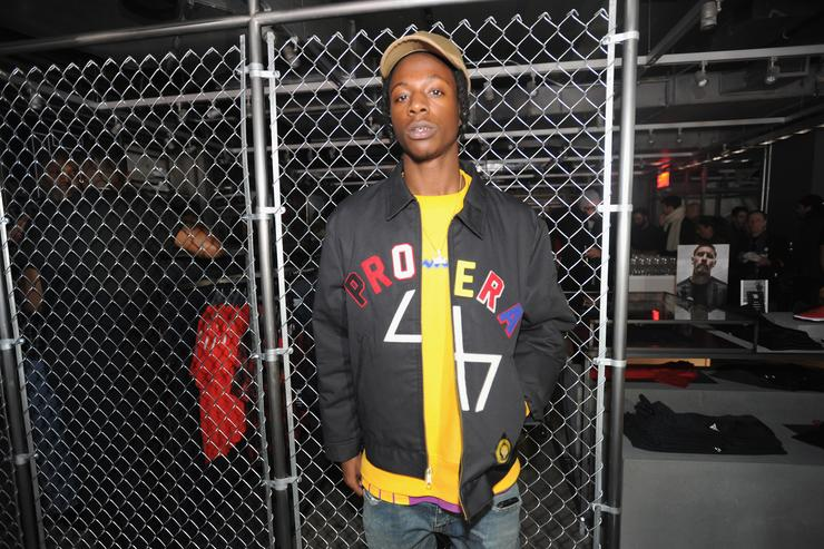Joey Badass attends the adidas New York Flagship