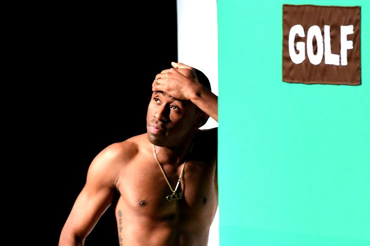 Tyler the Creator performs at Tyler, the Creator's fashion show for Made LA at L.A.