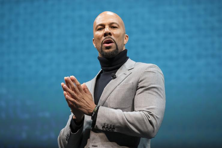 Common speaks during the Starbucks annual shareholders meeting