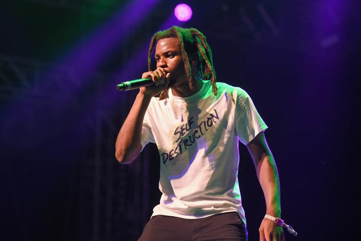 Denzel Curry performs at the Gobi Tent during day 1 of the 2017 Coachella Valley Music & Arts Festival