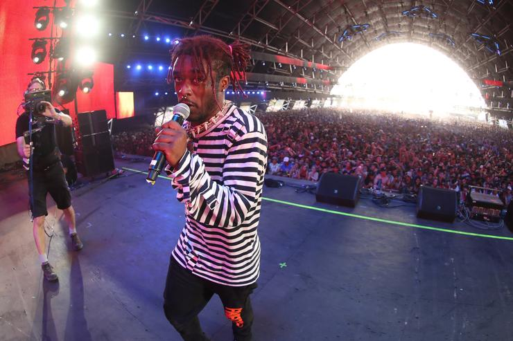 Lil Uzi Vert performs on the Sahara Stage during day 3 of the 2017 Coachella Valley Music & Arts Festival (Weekend 2) at the Empire Polo Club on April 23, 2017 in Indio, California.