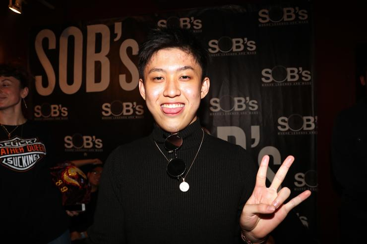 Recording artist Rich Chigga backstage at S.O.B.'s on May 10, 2017 in New York City