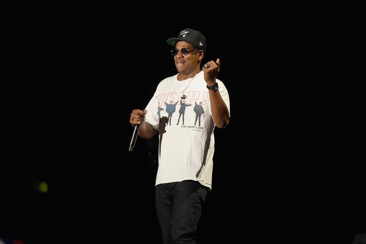 JAY-Z performs onstage during the Meadows Music And Arts Festival - Day 1 at Citi Field on September 15, 2017 in New York City