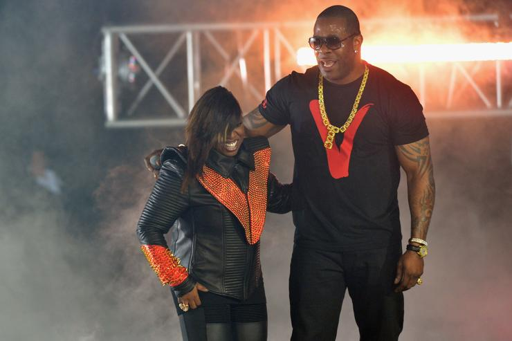 Missy Elliott and Busta Rhymes perform onstage at the 2012 BET Hip Hop Awards at Boisfeuillet Jones Atlanta Civic Center on September 29, 2012 in Atlanta, Georgia.