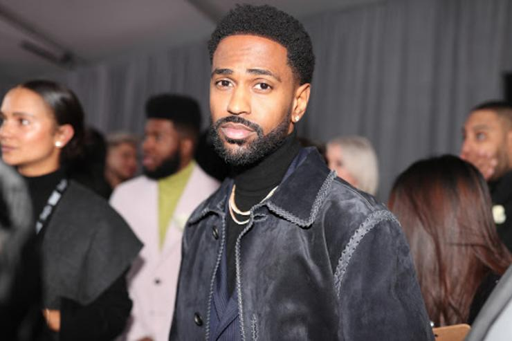 Big Sean showing out in shearling