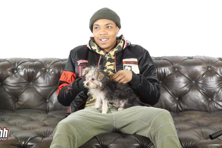 G Herbo and a dog