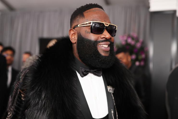 Rick Ross attends the 60th Annual GRAMMY Awards at Madison Square Garden on January 28, 2018 in New York City