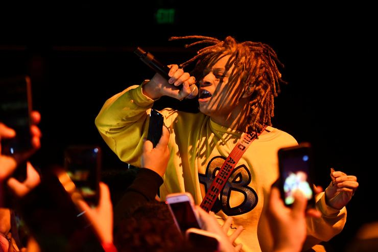 Trippie Redd performs onstage at The Novo by Microsoft on January 15, 2018 in Los Angeles, California
