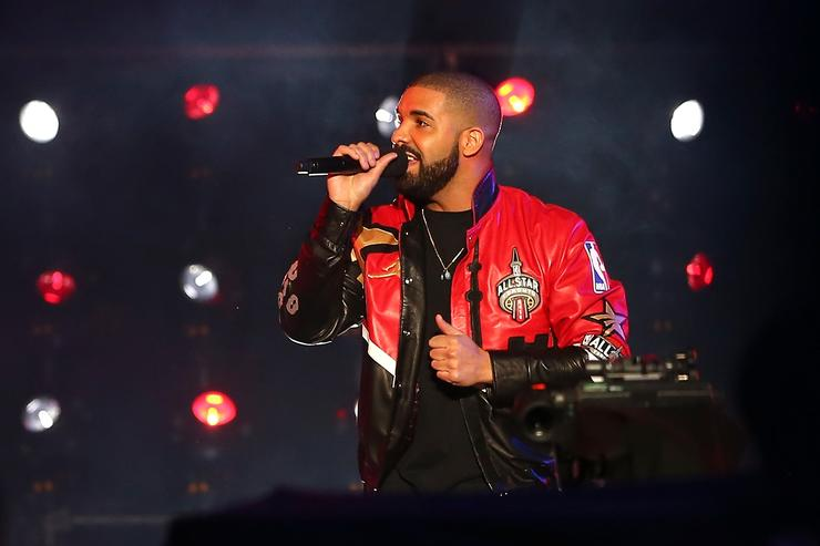Drake speaks during introductions before the NBA All-Star Game 2016 at the Air Canada Centre on February 14, 2016 in Toronto, Ontario
