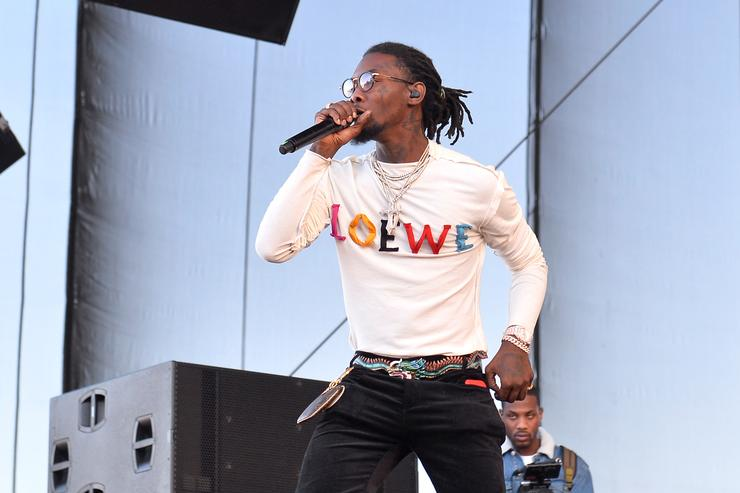 Offset of Migos performs onstage during the Daytime Village Presented by Capital One at the 2017 HeartRadio Music Festival at the Las Vegas Village on September 23, 2017 in Las Vegas, Nevada