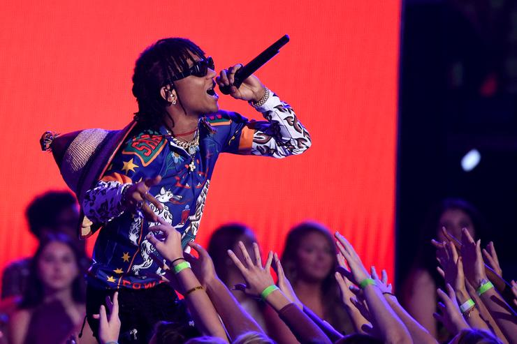 Swae Lee of Rae Sremmurd performs onstage during the Teen Choice Awards 2017 at Galen Center on August 13, 2017 in Los Angeles, California