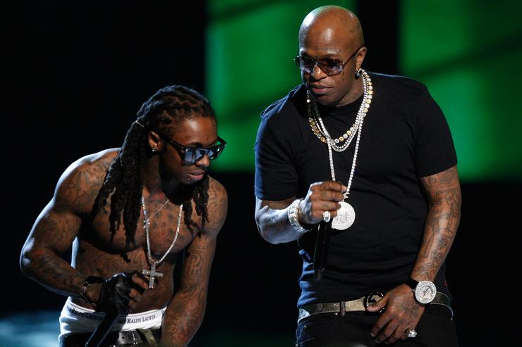 Lil Wayne and Birdman perform onstage during the 2009 BET Awards held at the Shrine Auditorium on June 28, 2009 in Los Angeles, California