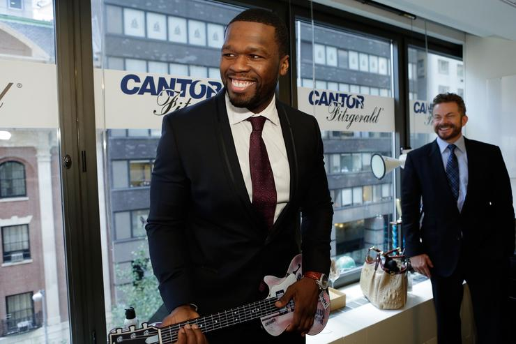 Curtis '50 Cent' Jackson attends the annual Charity Day hosted by Cantor Fitzgerald and BGC at Cantor Fitzgerald on September 11, 2015 in New York City. (Photo by Mike McGregor/Getty Images for Cantor Fitzgerald