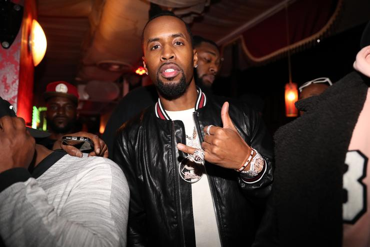 Safaree attends the 'Love & Hip Hop Atlanta' Viewing Party at Hayatynyc on March 19, 2018 in New York City