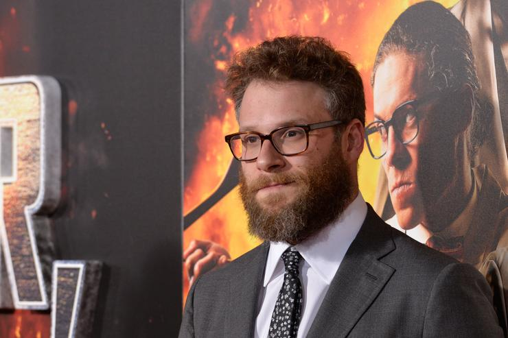 Seth Rogen attends the premiere of Netflix's 'Game Over, Man!' at Regency Village Theatre on March 21, 2018 in Westwood, California.