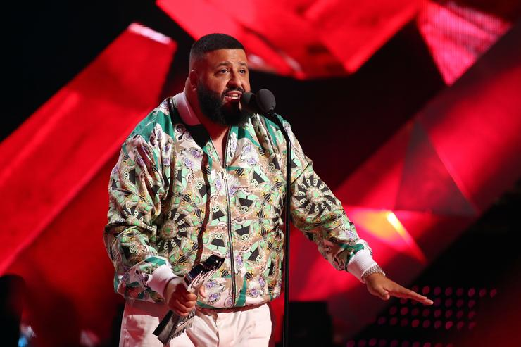 DJ Khaled speaks onstage during the 2018 iHeartRadio Music Awards which broadcasted live on TBS, TNT, and truTV at The Forum on March 11, 2018 in Inglewood, California