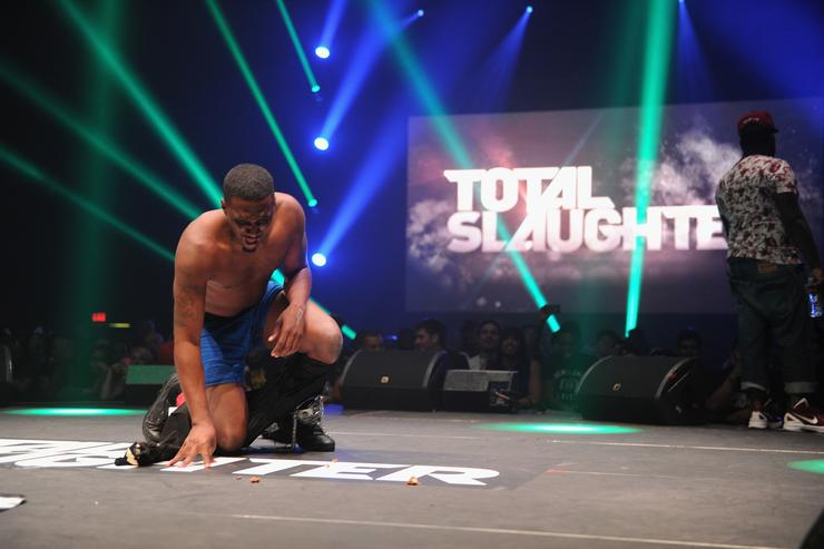 Daylyt performs at Total Slaughter, hosted by Shady Films and WatchLOUD.com at Hammerstein Ballroom on July 12, 2014 in New York City