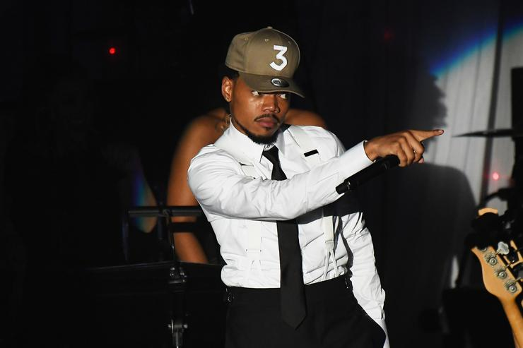 Chance The Rapper performs onstage at the Pre-GRAMMY Gala and Salute to Industry Icons Honoring Debra Lee at The Beverly Hilton on February 11, 2017 in Los Angeles, California