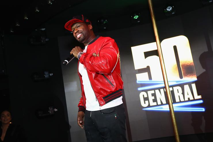 Curtis '50 Cent' Jackson speaks on stage at BET's 50 Central Premiere Party on September 25, 2017 in New York City.