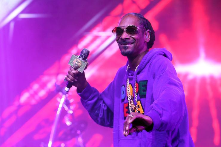 Snoop Dogg performs with Jamiroquai during the 2018 Coachella Valley Music And Arts Festival at the Empire Polo Field on April 13, 2018 in Indio, California