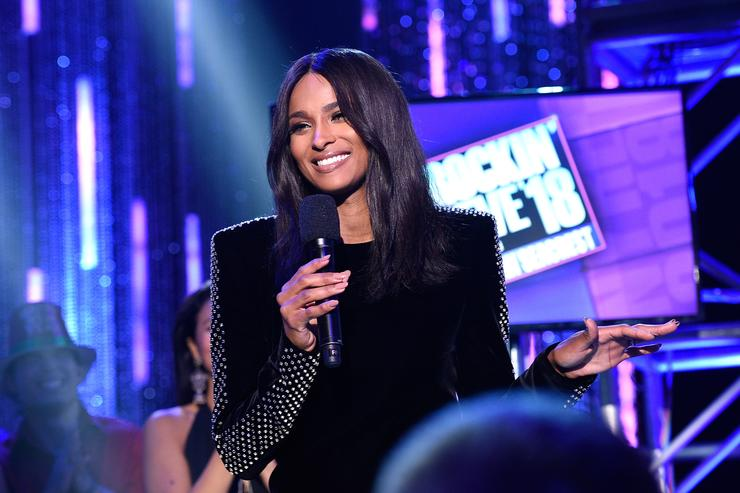 Ciara onstage at Dick Clark's New Year's Rockin' Eve with Ryan Seacrest 2018 on December 31, 2017 in Los Angeles, California.