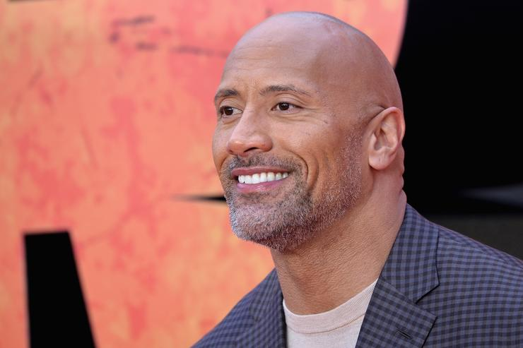 Dwayne Johnson attends the European Premiere of 'Rampage' at Cineworld Leicester Square on April 11, 2018 in London, England