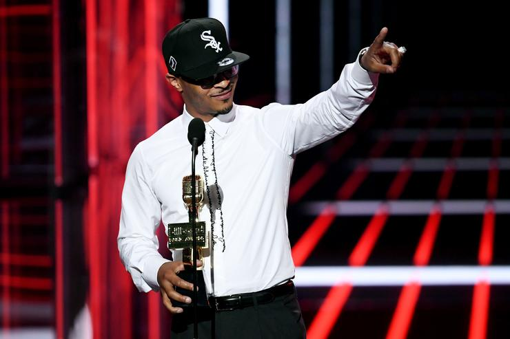 Tip 'T.I.' Harris speaks onstage during the 2018 Billboard Music Awards at MGM Grand Garden Arena on May 20, 2018 in Las Vegas, Nevada