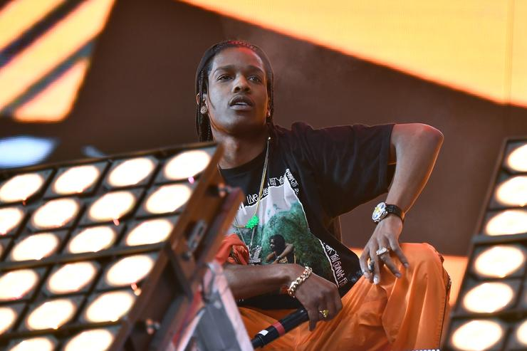 ASAP Rocky performs in the Sahara Tent with Lil Uzi Vert during day 3 (Weekend 2) of the 2017 Coachella Valley Music & Arts Festival (Weekend 2) at the Empire Polo Club on April 23, 2017 in Indio, California.