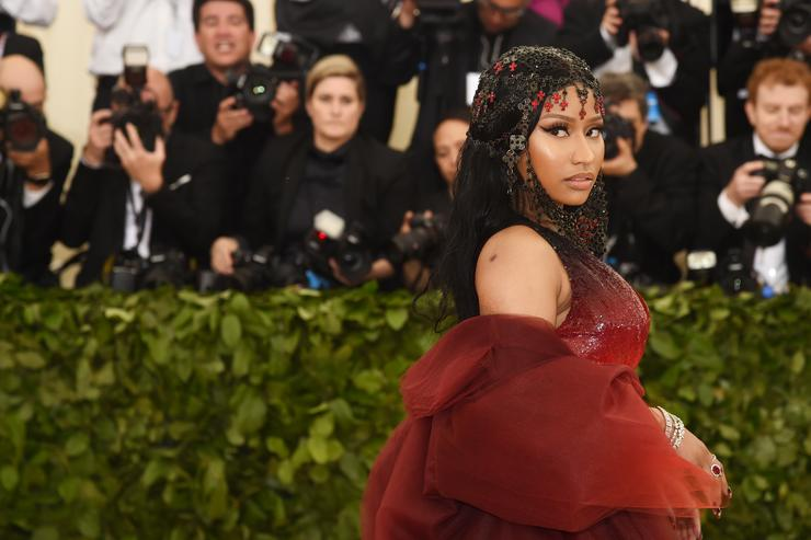 Nicki Minaj attends the Heavenly Bodies: Fashion & The Catholic Imagination Costume Institute Gala at The Metropolitan Museum of Art on May 7, 2018 in New York City
