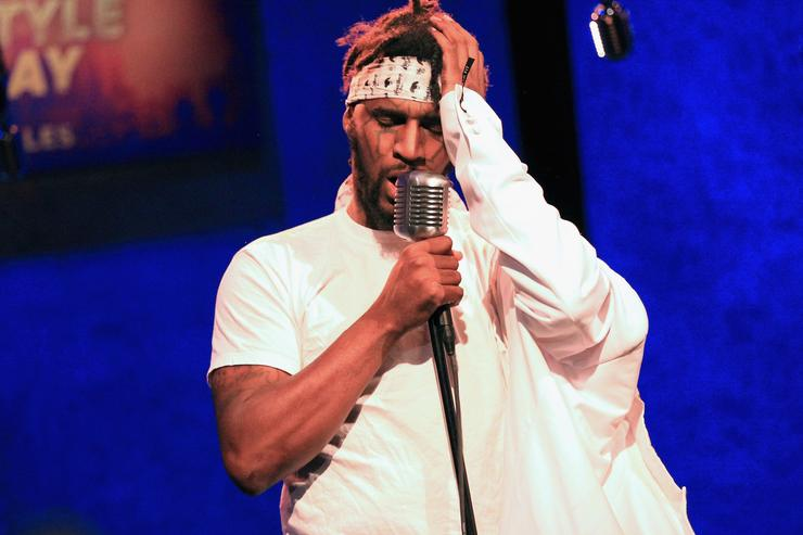 Daylyt performs onstage at BET's Freestyle Friday: LA at YouTube Space LA on June 15, 2018 in Los Angeles, California