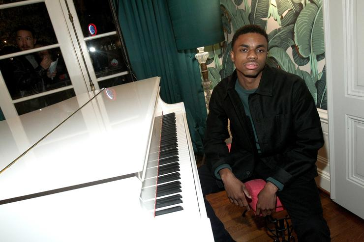 Rapper Vince Staples attends the Def Jam Toasts The Grammys at the Private Residence of Jonas Tahlin, CEO Absolut Elyx on February 12, 2017 in Los Angeles, California.