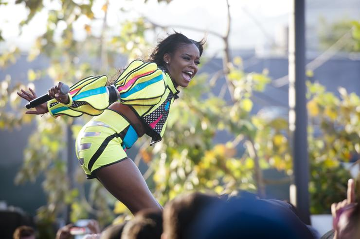 Azealia Banks performs during the 2014 LA Gay Pride Festival on June 7, 2014 in West Hollywood, California