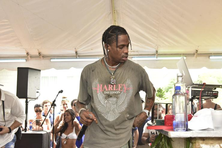 Travis Scott performs at the FIJI Water at #REVOLVEintheHamptons 2017 on July 22, 2017 in Bridgehampton, New York