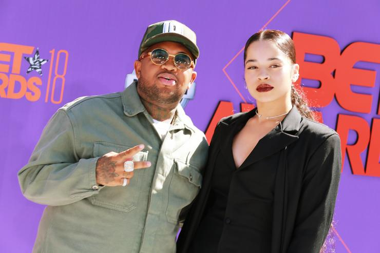 Mustard (L) and Ella Mai attend the 2018 BET Awards at Microsoft Theater on June 24, 2018 in Los Angeles, California