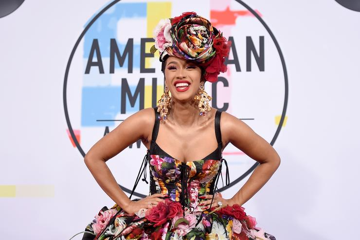 Cardi B attends the 2018 American Music Awards at Microsoft Theater on October 9, 2018 in Los Angeles, California