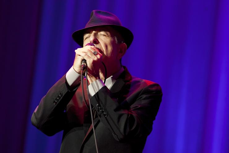 Leonard Cohen performs at Madison Square Garden on December 18, 2012 in New York City