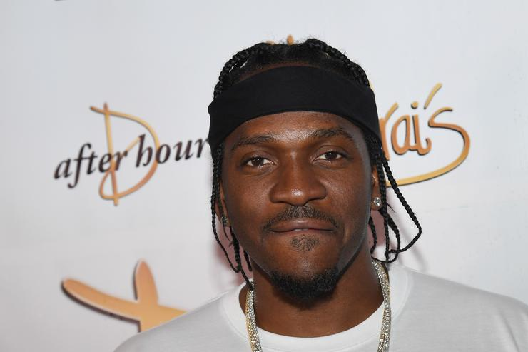Pusha T arrives at the debut of his residency at Drai's Beach Club - Nightclub at The Cromwell Las Vegas on June 16, 2018 in Las Vegas, Nevada