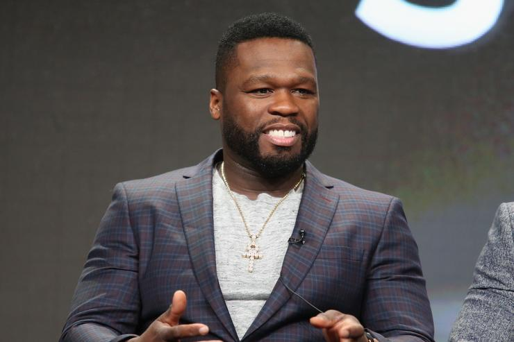 '50 Cent' speaks onstage during the 'Power' panel discussion at the Starz portion of the 2016 Television Critics Association Summer Tour at The Beverly Hilton Hotel on August 1, 2016 in Beverly Hills, California