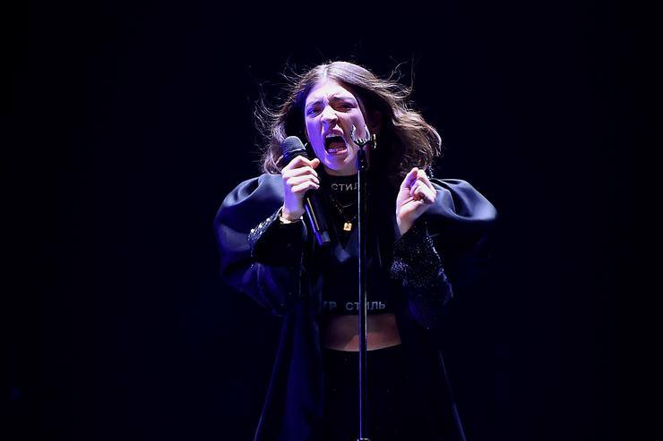 Lorde Performs at Melodrama World Tour at Barclays Center on April 4, 2018 in New York City