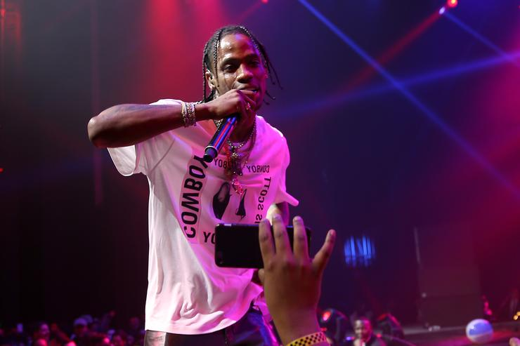 Travis Scott performs onstage at the Maxim Super Bowl Party on February 5, 2017 in Houston, Texas