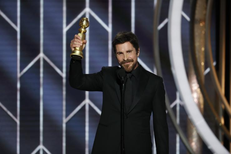 Christian Bale Attacks Mitch McConnell and Dick Cheney at Golden Globes